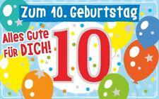 Geburtstagsteelicht Geburtstag Geburtstagkarte Kerze Teelicht Zum 10. Geburtstag