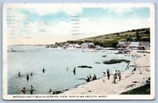 1928 WESSAGUSETT BEACH*NORTH WEYMOUTH MASSACHUSETTS*MA*COTTAGES*GENERAL VIEW