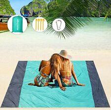 Sand Free Beach Blanket, 79''×83'& #039; Picnic Blankets Waterproof Sandproof Oversize