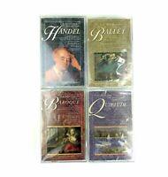 Lot Of 4 The Masterpiece Collection '96 Cassettes Handel Ballet Quietude Baroque