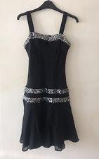 1920s Style Swing Flapper Party Dress - Size 8 ~ Silk ~