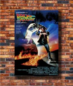 Hot Poster Nice Silk Fabric Cloth Wall Print Movie Back To The Future Z879