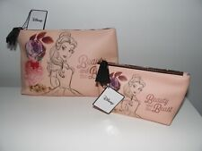 DISNEY BEAUTY AND THE BEAST COSMETICS BAGS MAKE UP TRAVEL CASES BRUSH HOLDERS