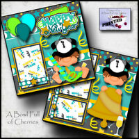 New Years 2 premade scrapbook pages paper piecing layout 4 album by cherry 12x12