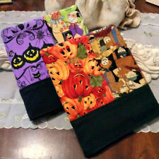 COUNTRY COTTAGE KIDS SET OF TWO SPOOKY HALLOWEEN LINED PATCHWORK PILLOWCASES