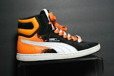 Puma First Round Ex High Skate Sneaker Multi Black Orange Athletic Men 12 Hip Wh