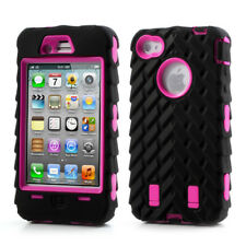 Apple iPhone 4 4s outdoor case silicona skidproof neumáticos perfil Cover negro rosa