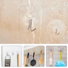 6pcs Clear Bathroom Kitchen Door Wall Self Adhesive Suction Hook Sucker Hangers