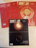 Lot Of 3 Vintage Soviet Life Magazine September, October 1981, December 1982