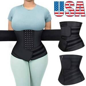 Fajas Colombiana Latex Waist Trainer Underbust Sports Cincher Womens Body Shaper
