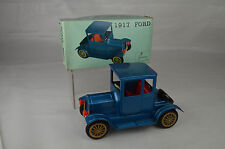 """Vintage TN Japan Model T Ford Coupe Auto Friction Motor 6 1/8"""" Nr Mint W/Box Lid"""