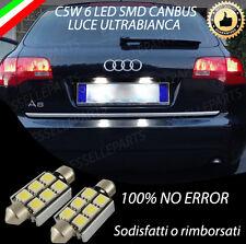 COPPIA LUCI TARGA 6 LED AUDI A6 C6 AVANT CANBUS 100% NO AVARIA