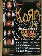 KORN 2002 TOUR - orig.Concert Poster - Plakat A1 TOP