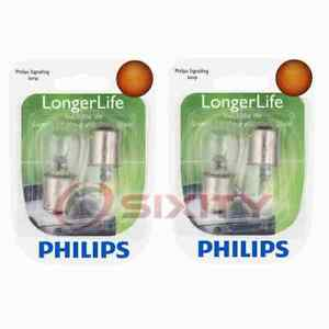 2 pc Philips Map Light Bulbs for Ford 300 Capri Country Sedan Country Squire vq