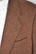 42R Jack Stil GARY Vintage 100% Wool Rust Tweed 2 Button Blazer Sport Coat