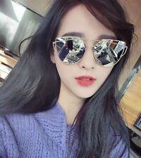 lunette de soleil miroir argente star uv total protection  - unisexe - oversize