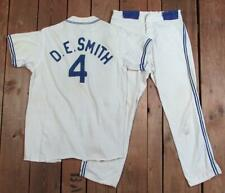 Vintage 1950s Empire Nyc Baseball Uniform Zipper Front Shirt w/ Pants D.E.Smith