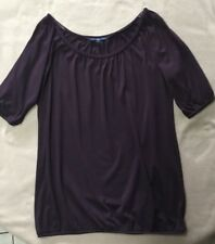 PREOWNED GAP PURPLE PULLOVER SHIRT/SIZE M
