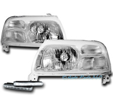 FOR 99-04 SUZUKI VITARA/02-03 XL-7 CHROME HEADLIGHT HEADLAMP +BUMPER DRL LED KIT
