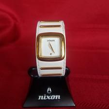 "Nixon ""The Duchess"" (White & Gold) 30M Fat Tongue & Real Diamond [5G]"