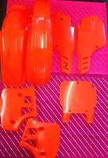 Kx 250 1989 Plastics Kit Flo Orange Tuf Ufo Evo Kawasaki (1988 See Description)
