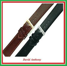 PREMIER ECONOMY REAL LEATHER WATCH STRAP. FITS OMEGA, LONGINES, TISSOT etc PE