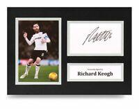 Richard Keogh Signed A4 Photo Display Derby County Autograph Memorabilia + COA