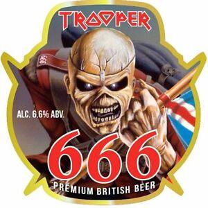Iron Maiden The Trooper 666 British Beer Ale Refrigerator Magnet Fridge
