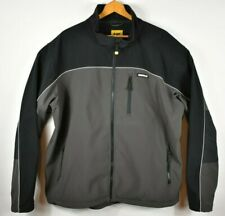 Mens Caterpillar Outdoor Work Wear Jacket Size XXL Black Gray EUC