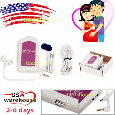 New Pocket Fetal Heart Rate Doppler,Listen Baby Heart Babysound A+gel