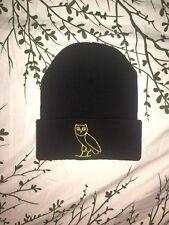 Warm Winter Women or Men's Beanie Knit Ski Cap Hat with Egyptian Owl symbol