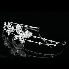Bridal Butterfly Rhinestones Crystal Wedding Tiara Headband 7736