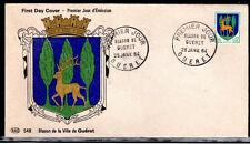 FRANCE FDC - 491 1351B 4 ARMOIRIES DE GUERET 25 1 1964