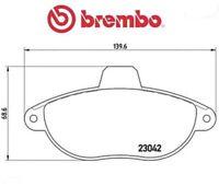 P23072 Kit pastiglie freno, Freno a disco (MARCA-BREMBO)