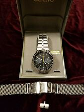 Seiko Automatic CHRONOGRAPH bullhead Stainless Running Watch nice condition.
