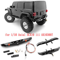 Métal Rear Bumper Modification pour 1/10 Axial SCX10 iii AX103007 RC Crawler Car
