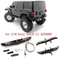 Métal Rear Bumper Modification pour 1/10 Axial SCX10 iii AX103007 RC Crawler Car