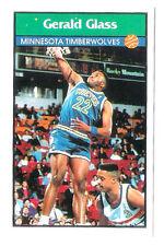 Gerald Glass 1992-93 Minnesota Timberwolve Basketball Italian Panni Sticker card