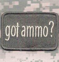GOT AMMO GUN RIGHTS SECOND 2ND AMENDMENT TACTICAL ACU LIGHT HOOK MORALE PATCH