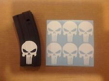 Punisher Skull Sticker 6 Pack, goes on mag, All Colors!