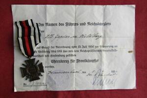 Medalla condecoración alemana Cruz de Honor III reich II segunda guerra mundial