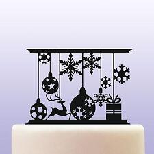 Acrilico Ornamenti Natale e fiocchi di neve RICORDO Cake Topper Decorazione