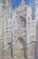 Monet 1894, Rouen Cathedral, Canvas Print, Fade Resistant HD Print or Canvas