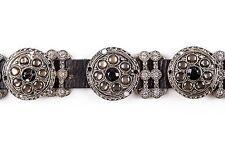 Leatherock Black Leather Belt Size M