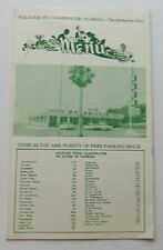 Restaurant Menu For Bay Drive In Clearwater Florida 50's