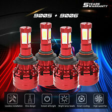 4x 9006 9005 Total 4830W 724500LM LED Headlight High Low Beam Combo 6000K White