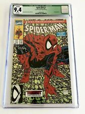 MARVEL COMICS Spider-Man #1 GREEN CGC GRADE 9.4 ***SIGNED MCFARLANE White Pages
