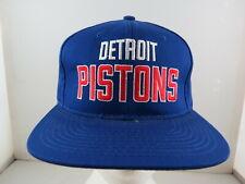 Detroit Pistons Hat (VTG) -  2 Colour Script Logo by Starter - Adult Snapback