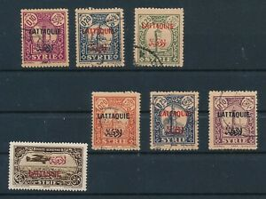 LATAKIA (1931-33) *(7) REGULAR & AIRMAIL*; SYRIA OVERPTS; USED; SOUND & CLEAN