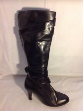Roland Cartier Black Knee High Leather Boots Size 39